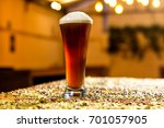 pale ale beer glass in a pub   Shutterstock . vector #701057905