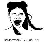 vector hand drawn illustration... | Shutterstock .eps vector #701062771