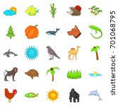 climate icons set. cartoon set... | Shutterstock .eps vector #701068795