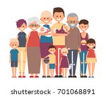 happy family. father  mother ... | Shutterstock .eps vector #701068891