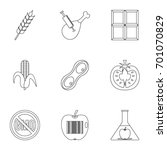 biotechnology icon set. outline ...   Shutterstock .eps vector #701070829