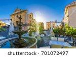 central square of rio nell'elba ... | Shutterstock . vector #701072497