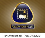 shiny badge with picture icon...   Shutterstock .eps vector #701073229