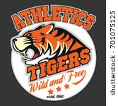 angry tiger sport team emblem ... | Shutterstock .eps vector #701075125