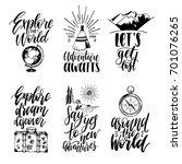 vector set of hand lettering... | Shutterstock .eps vector #701076265