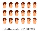 set of avatars. male characters.... | Shutterstock . vector #701080939