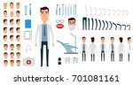 dentist character creation set. ... | Shutterstock . vector #701081161