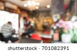 blurred background of waitress... | Shutterstock . vector #701082391
