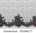 seamless vector black and pink...   Shutterstock .eps vector #701086177