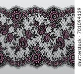 seamless vector black and pink... | Shutterstock .eps vector #701094139