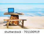 office of freelancer on the... | Shutterstock . vector #701100919