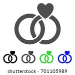wedding rings flat vector... | Shutterstock .eps vector #701105989