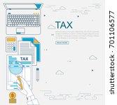 vector flat line design concept ... | Shutterstock .eps vector #701106577