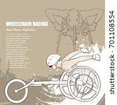 illustration of wheelchair... | Shutterstock .eps vector #701108554