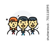 business teamwork isolated line ... | Shutterstock .eps vector #701118595