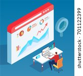 isometric data analysis | Shutterstock .eps vector #701122399