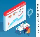 isometric data analysis | Shutterstock .eps vector #701122399