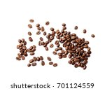 coffee beans. isolated on white ... | Shutterstock . vector #701124559