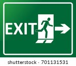 exit sign indicating way out of ... | Shutterstock .eps vector #701131531