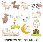 eid al adha design element ... | Shutterstock .eps vector #701131651