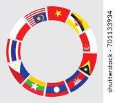 vector of south east asia flag... | Shutterstock .eps vector #701133934