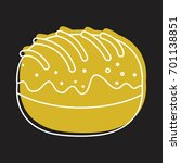 roll bakery product in doodle... | Shutterstock .eps vector #701138851