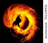 Orange Flames Fiery Motion