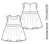 technical drawing of children's ... | Shutterstock .eps vector #701140135