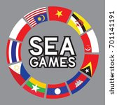vector of sea games and south... | Shutterstock .eps vector #701141191