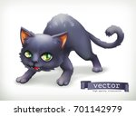 cat. happy halloween 3d vector... | Shutterstock .eps vector #701142979