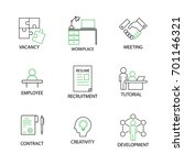 modern flat thin line icon set... | Shutterstock .eps vector #701146321