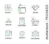 modern flat thin line icon set... | Shutterstock .eps vector #701146321