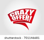 crazy offer labels banners