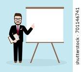 hipster businessman holding... | Shutterstock .eps vector #701146741