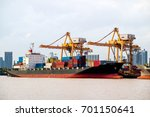shipping industrial trade port. ... | Shutterstock . vector #701150641