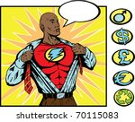 superhero changing. with vector ... | Shutterstock .eps vector #70115083
