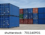 full containers are stacking at ... | Shutterstock . vector #701160931