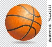 3d basketball isolated ball on ... | Shutterstock . vector #701163835
