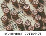 vintage lotto board game | Shutterstock . vector #701164405