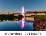 new and old kosciuszko bridges... | Shutterstock . vector #701166349