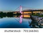 new and old kosciuszko bridges... | Shutterstock . vector #701166361