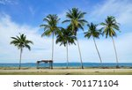 peaceful scenery with waving... | Shutterstock . vector #701171104