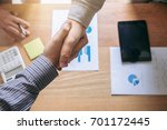 meeting and greeting concept ... | Shutterstock . vector #701172445