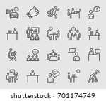every day in office line icon | Shutterstock .eps vector #701174749