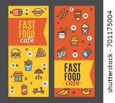 fast food and street food flyer ... | Shutterstock .eps vector #701175004