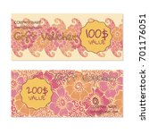 vector gift voucher  card... | Shutterstock .eps vector #701176051