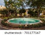 sparkling fountain under... | Shutterstock . vector #701177167