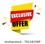 banner exclusive offer | Shutterstock .eps vector #701181589