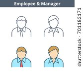 occupations colorful avatar set ...   Shutterstock .eps vector #701182171