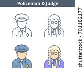 occupations colorful avatar set ... | Shutterstock .eps vector #701182177